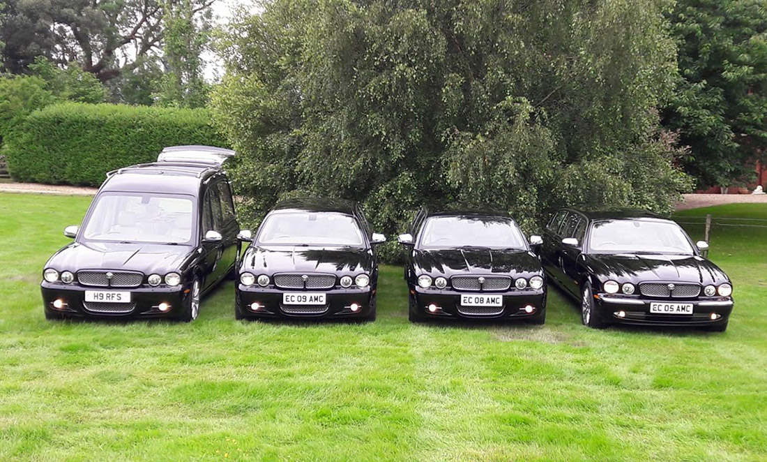Black Jaguar Funeral Car Fleet