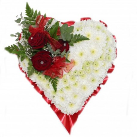 Funeral Heart Red