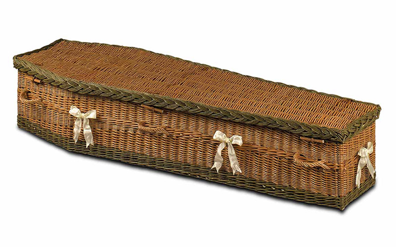 Wicker Coffin