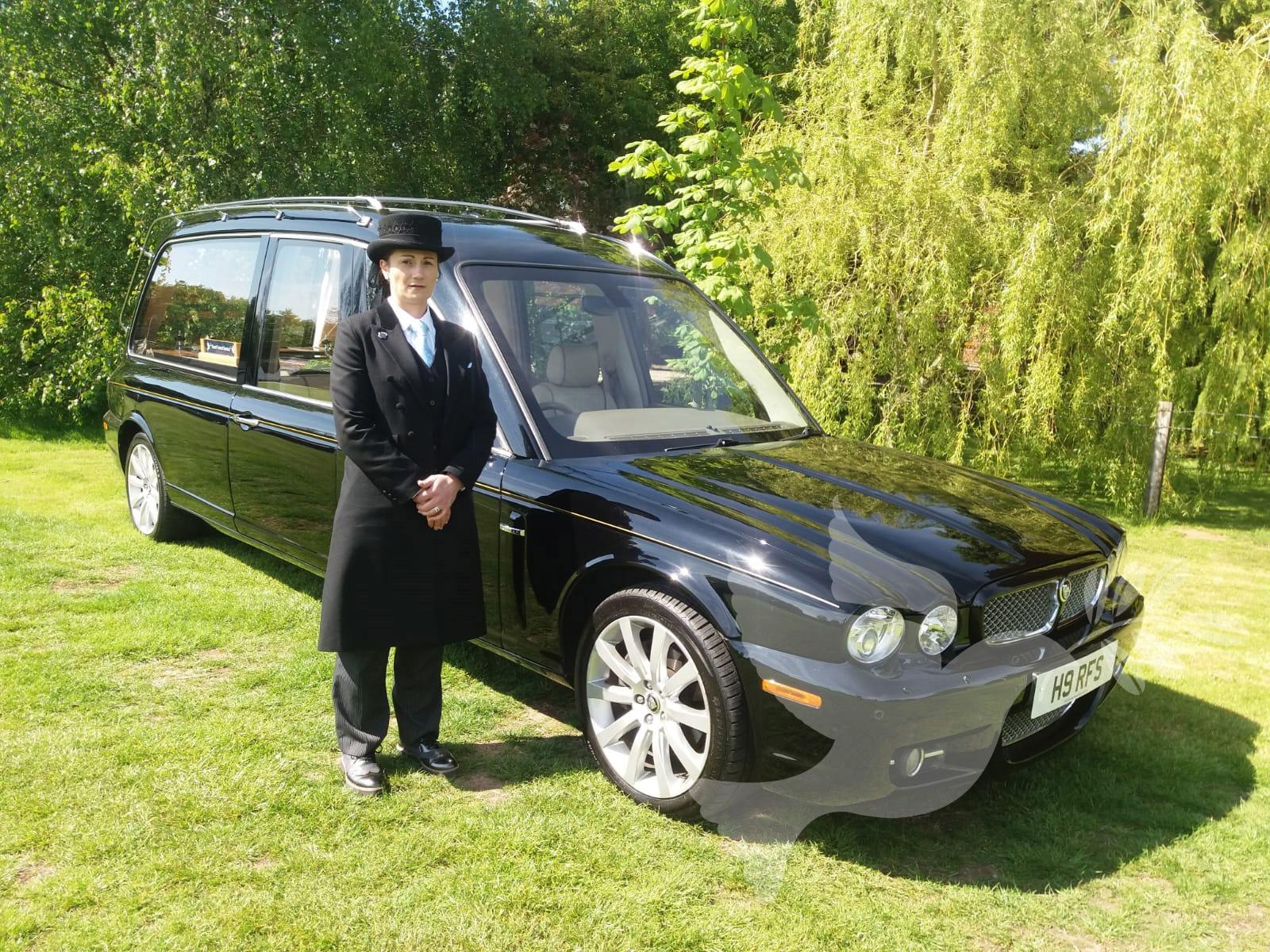 Jaguar XJ Hearse in Masons Black