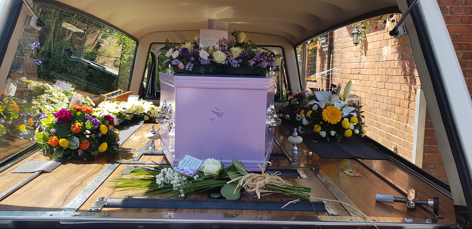 Funeral Flowers in Hearse